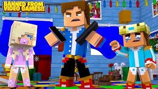OUR BABY DAUGHTER IS BANNED FROM VIDEO GAMES FOREVER!! Minecraft Adventure