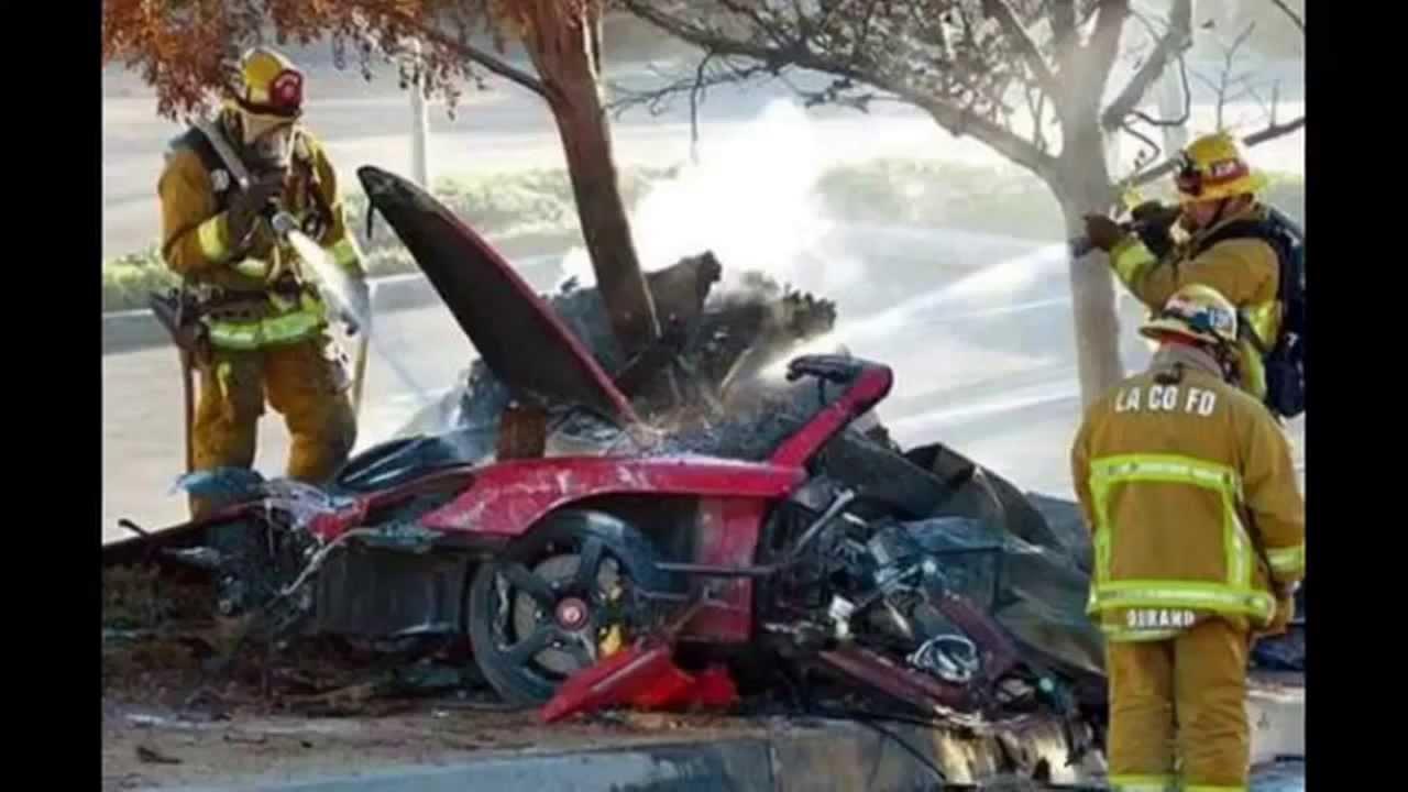 ワイルドスピード ブライアン事故写真