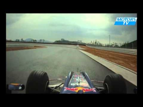 Karun Chandhok demos Red Bull Racing's RB6 at South Korea's new F1 circuit