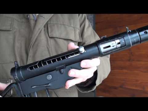 Sten Mark II Submachine Gun Close-Up