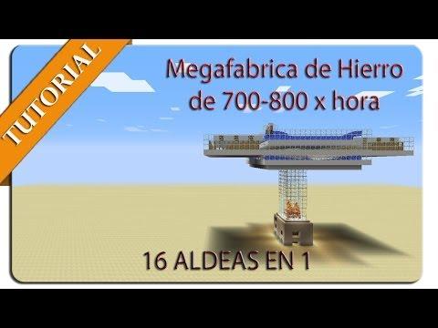 Megafabrica de Hierro 700-800 x hora 16 Aldeas en 1 (Minecraft 1.7 y 1.8+)