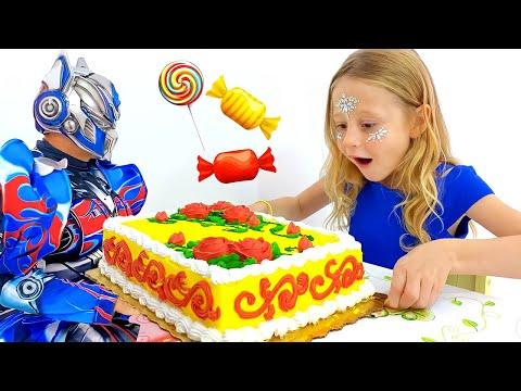 Nastya a trouvé un robot jouet qui réalise les souhaits