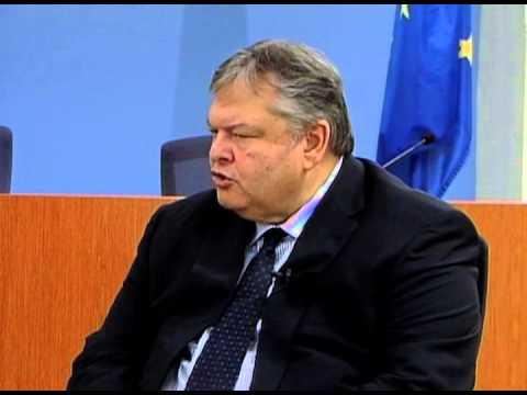 Ο Αντιπρόεδρος της Κυβέρνησης και Υπουργός Εξωτερικών Ευάγγελος Βενιζέλος στο New Greek TV