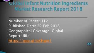 Infant Nutrition Ingredients Market Market Overview, Manufacturing Cost Structure Analysis