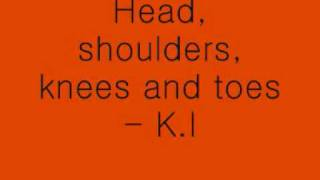 Head, shoulders, knees and toes - lyrics (: x