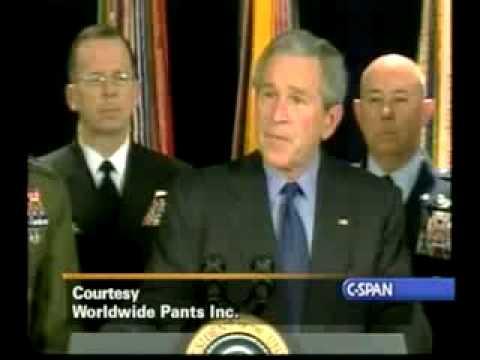 George Bush Top 10 Moments - David Letterman Show