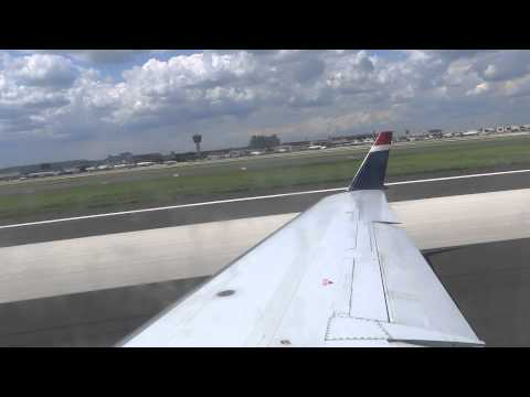 US Airways Express, CRJ-200, takeoff from Philadelphia (HD)