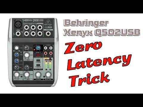 Behringer Xenyx Q502USB Hardware Zero Latency Recording Trick
