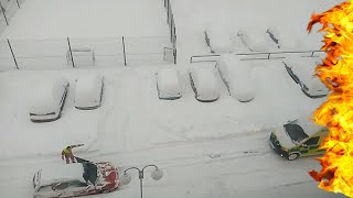 Unbelievable: IDIOT STUCK IN SNOW BLOCKING AMBULANCE IN EMERGENCY!