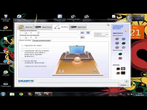 Como activar conectores frontales/traseros de sonido PC en Windows (Micrófono, Auriculares, etc.)