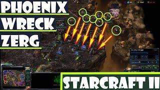 Protoss Phoenix Build Leaves 2 x Zerg Reeling - StarCraft II