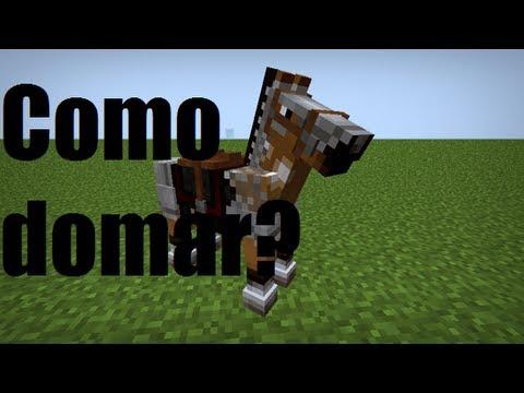 Como domar um cavalo no Minecraft 1.7.10 SEM MOD