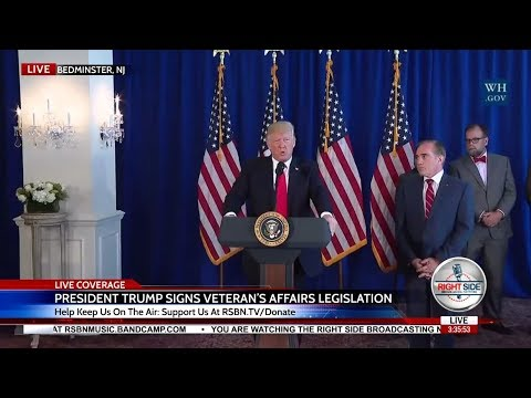 WATCH President Trump FULL Comments on Charlottesville; Signs Veteran's Affairs Legislation