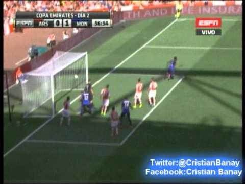 Gol Radamel Falcao vs Arsenal (0-1) Emirates Cup 2014 (3/8/2014)
