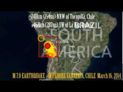 M 6.7 EARTHQUAKE - OFFSHORE TARAPACA, CHILE March 16, 2014