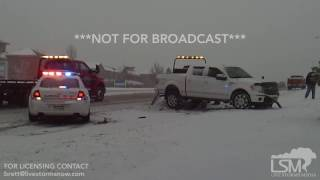 01-16-17 Aurora, CO  - Three Car Accident from Winter Storm Jupiter