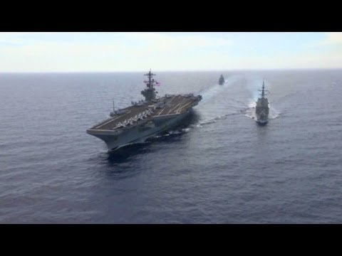USS George H.W. Bush at Sea. Aerial View | AiirSource