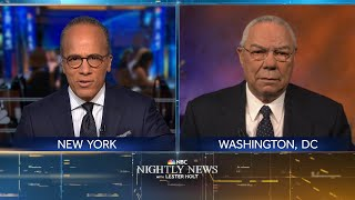 Extended Interview: Colin Powell Reflects On His Relationship With George Bush | NBC Nightly News  from NBC News