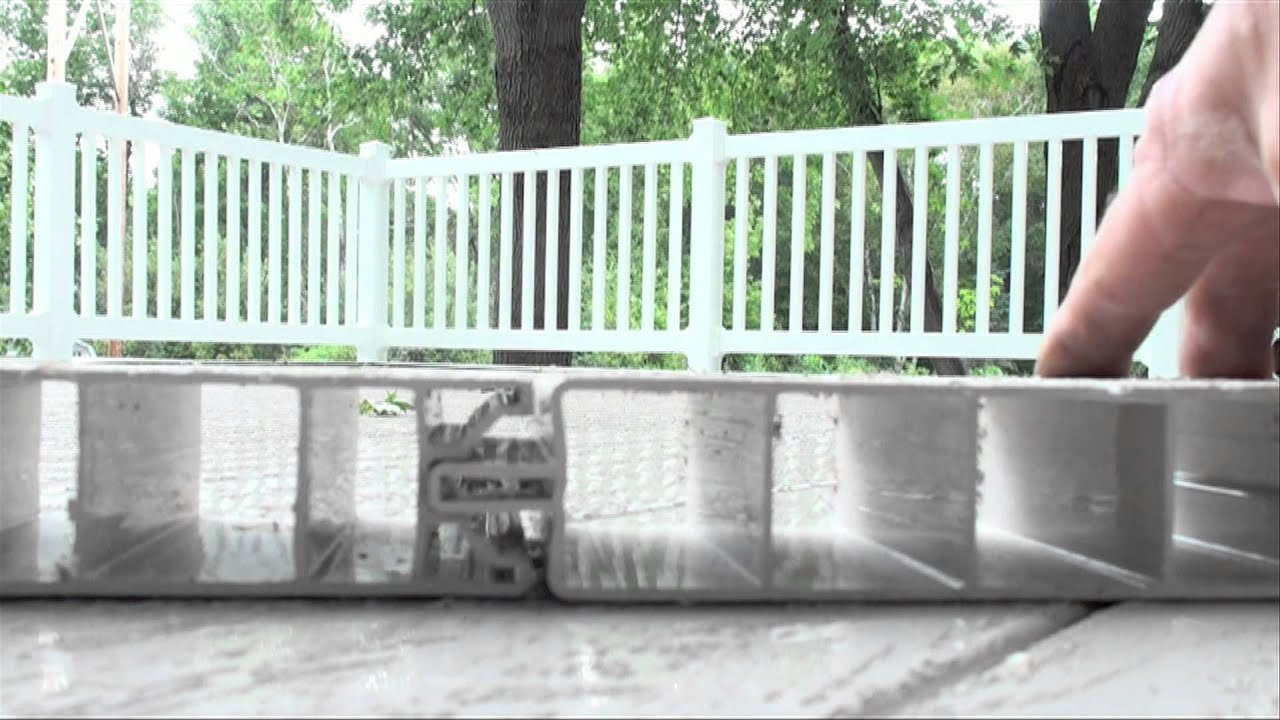 Deck Over Garage All Vinyl Youtube