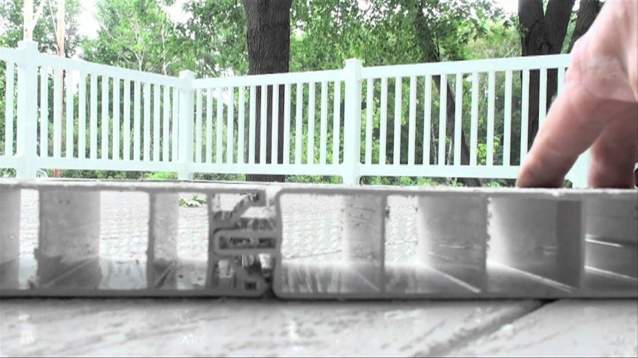 Deck over garage all vinyl youtube for Deck over garage designs