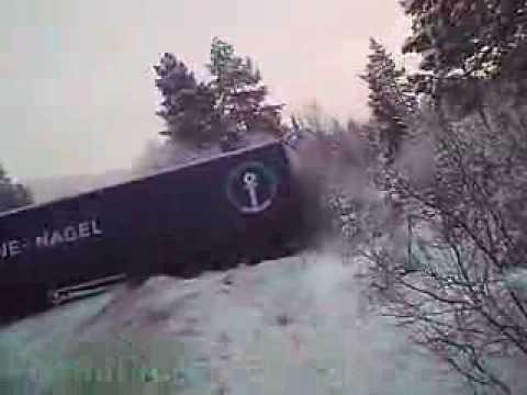 Авария с фурой. Норвегия.