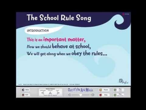 The School Rule Song - Words on Screen™ Original - School Songs