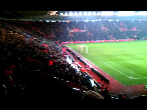 Southampton 1 - 0 Manchester City (Saints fans' celebrations)
