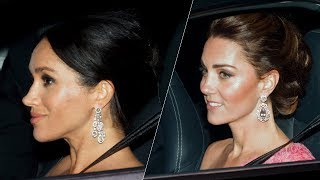 Meghan & Kate stun in matching updos at Prince Charles' Birthday