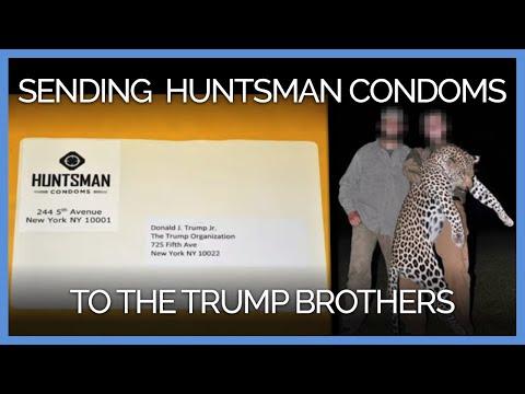 PETA Distributes 'Huntsman' Condoms to the Trump Brothers