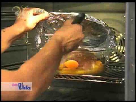 Pierna de cerdo a la naranja
