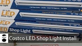 Costco LED Shop Light Install