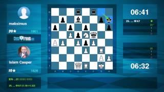 Chess Game Analysis: Islam Casper - maksimus : 1-0 (By ChessFriends.com)