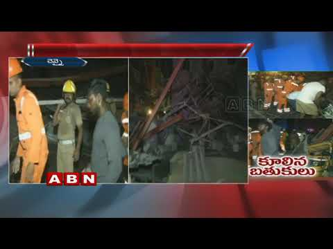 Under construction building collapses in Chennai , 35 people rescued