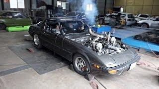 eBay Twin Turbo RX-7 Back on the Dyno!