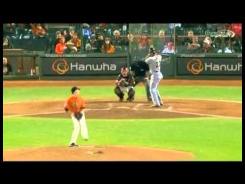 Tim Lincecum Strikes Out Giancarlo Stanton On 3 Pitches