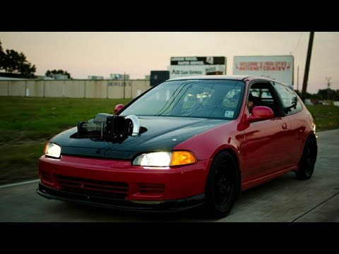 Custom K20A2 Eaton M90 supercharged Civic 12.559@116.25