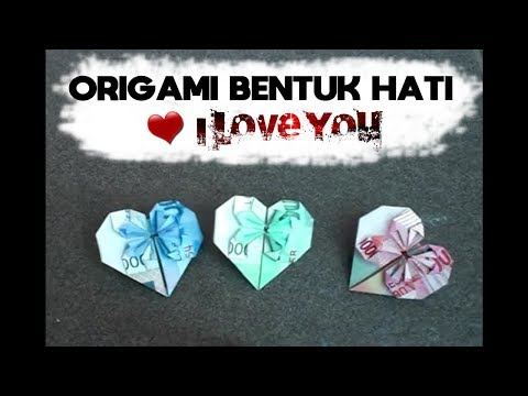 Tutorial Origami Bentuk Hati (Make a heart shaped origami)