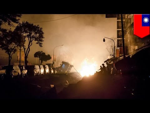 Taiwan gas explosion: damaged pipelines cause string of blasts, killing at least 20