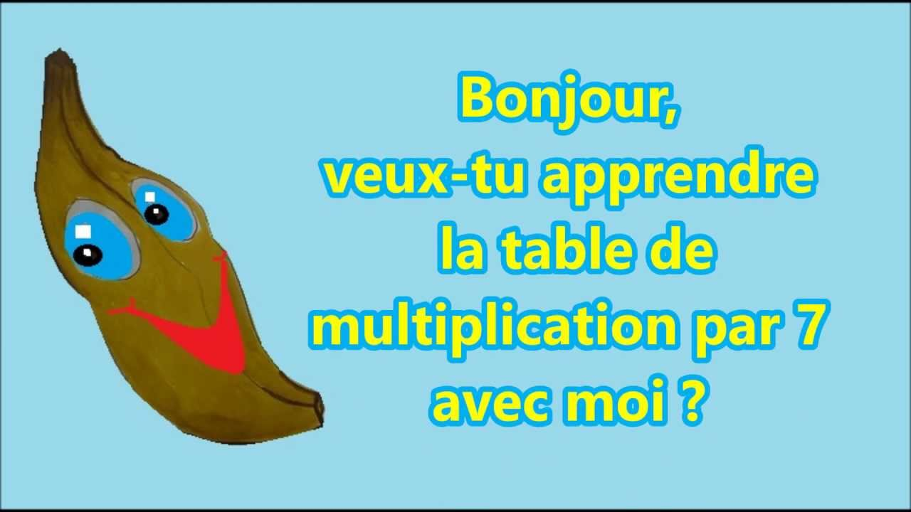 Apprendre la table de multiplication par 7 en cp ce1 ce2 for La table de multiplication