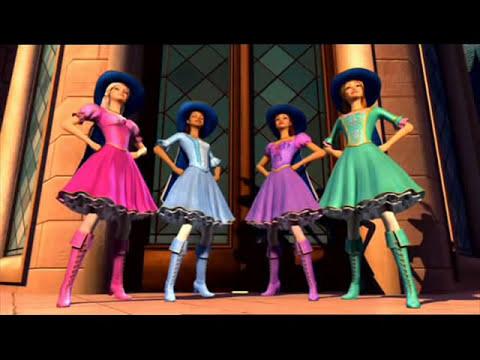 todas para una y una para todas- Barbie(y las tres mosqueteras)