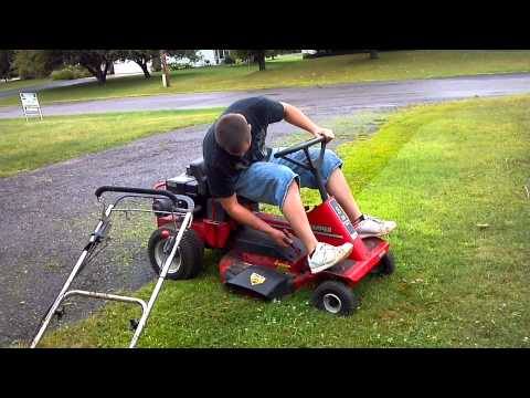 Snapper 12 28 Riding Lawn Mower test run