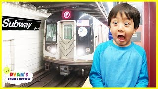 Ryan's First Subway Train Ride ever!