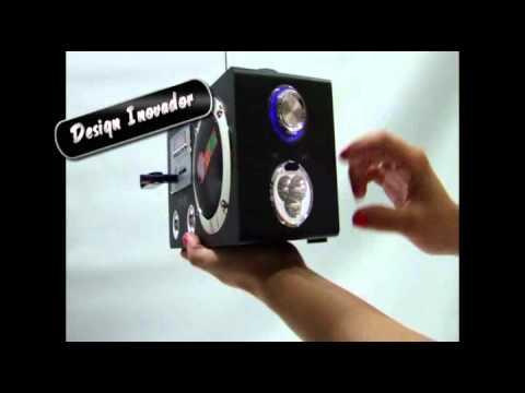 Caixa De Som Portátil Radio Fm MP3 USB SD YP-51 Recarregável