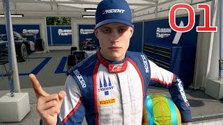 F1 2019 Career Mode - Part 1 - Playing with a Wheel!