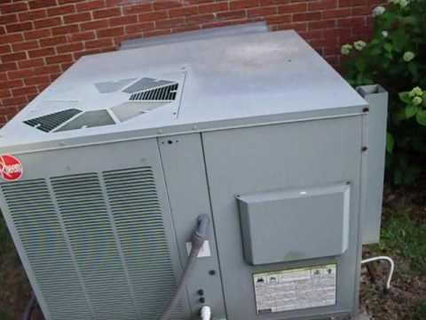 2001 Rheem Gas Electric Packaged Unit Youtube