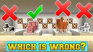 Minecraft: WHICH MOB DOES NOT BELONG?!? - ODD MOB OUT - Mini-Game