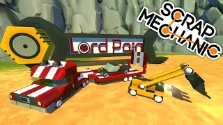 Micro Platform Semi Truck Trailer & Bobcat ( Scrap Mechanic Creations Gameplay )