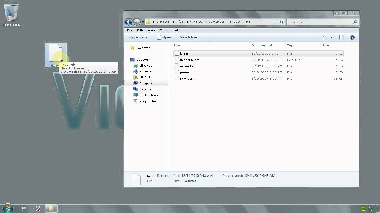 how to find host file windows 7