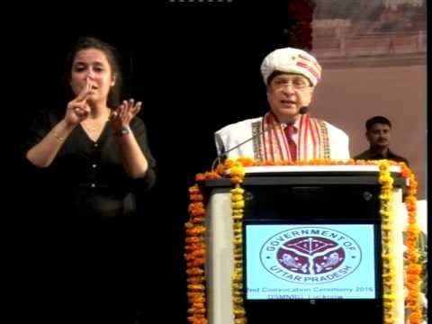 Hon'ble Mr. Justice Dipak Misra , Judge Supreme Court of India at Dr. SMNRU, Lucknow.