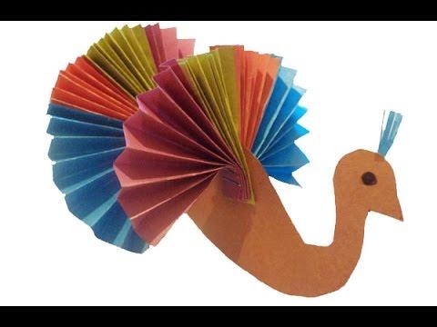 Как сделать павлина из цветной бумаги своими руками 1